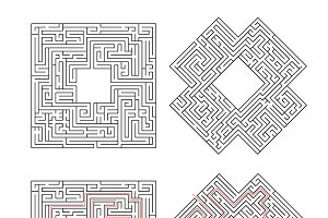 Two complicated labyrinths