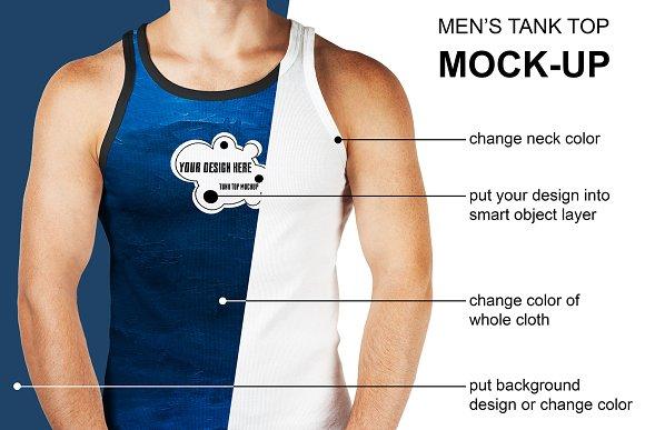 Men's Tank Top Mock-Up