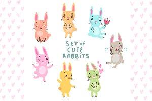7 Cute bunnies