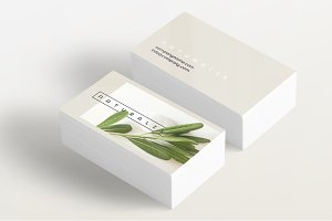Natural Greens business card