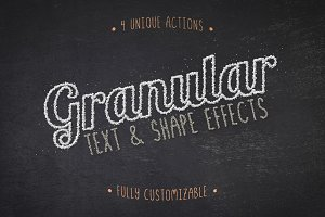 Granular Text & Shape Effects Vol 1