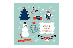 Christmas graphic elements set