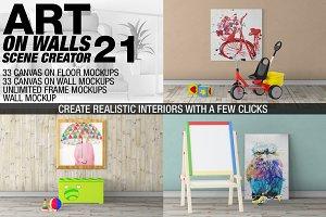 Canvas Mockups - Frames Mockups v 21
