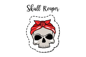 Fashion patch element skull
