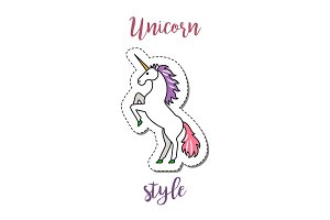 Fashion patch element unicorn