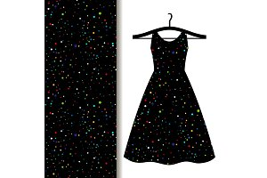 Women dress fabric with space pattern