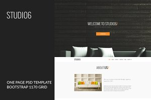 STUDIO6 - One Page PSD Template