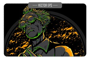 Vector Mad Scientist Illustration