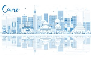 Outline Cairo Skyline