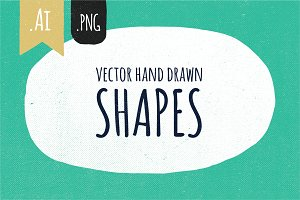 Hand drawn vector shapes