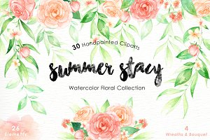 Summer Stacy Watercolor clipart