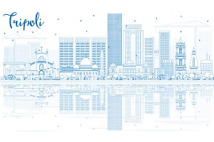 Outline Tripoli Skyline