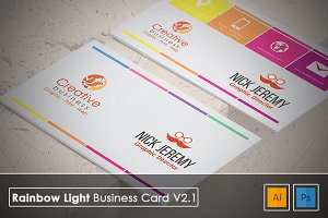 Rainbow Light Business Card v2.1