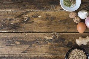 Falafel of lentil / vegetarian burge