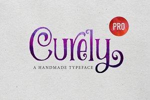 Curely Pro fancy cute lettering font