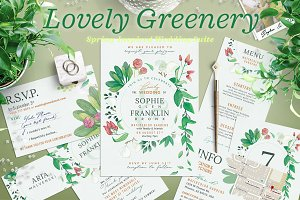 Wedding Suite X - Lovely Greenery I