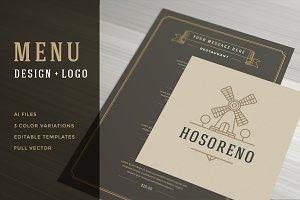 Restaurant Menu with Logo Design