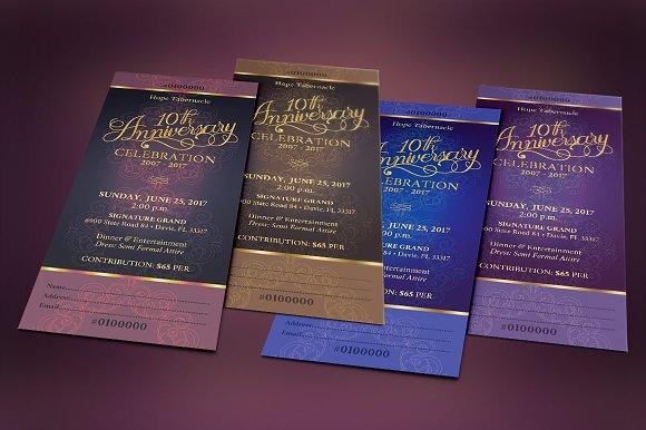 church anniversary banquet ticket templates creative market