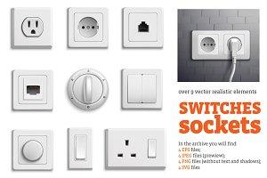 Realistic Sockets Set