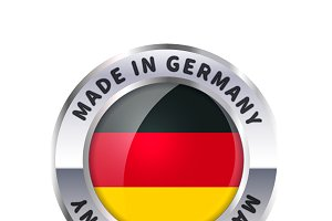 """Made in Germany"" icon with flag"