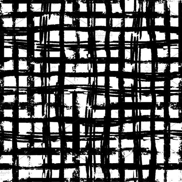 Hand-drawn Grunge Ink Grid On White