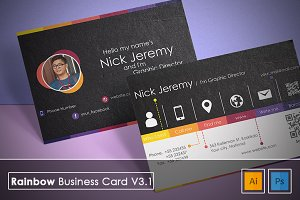 Rainbow Business Card v3.1