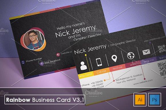 Rainbow Business Card V3.1