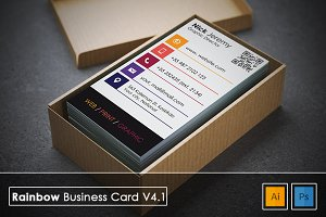 Rainbow Business Card v4.1