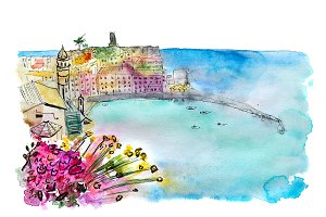 Vernazza watercolor sketch