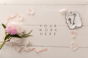 Peony & Keys Styled Mock Up Photo