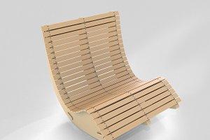 Wood Lounge Chair