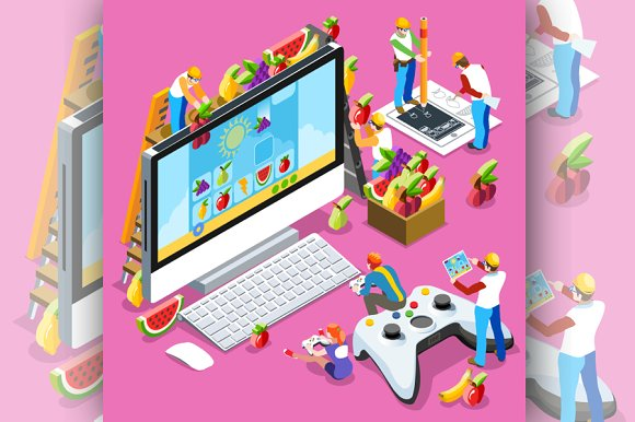 People Gaming Computer Video Game