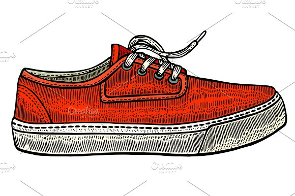 Vector Modern Red Sneakers