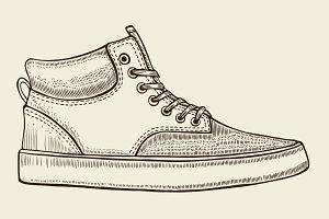 sketch of sport shoes