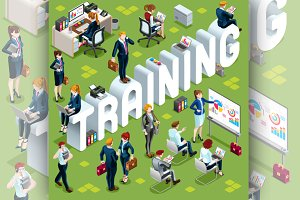 Training Isometric People Icon 3D