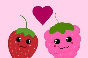 Strawberry & Raspberry