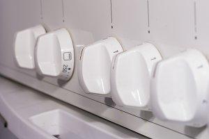 Kitchen controls.