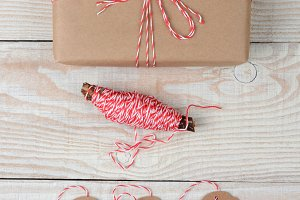 Plain Wrapped Present String and Tag