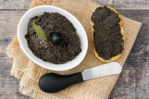 Black olive tapenade with anchovies