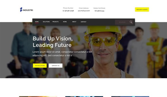 Construction HTML5 Template 50% Off