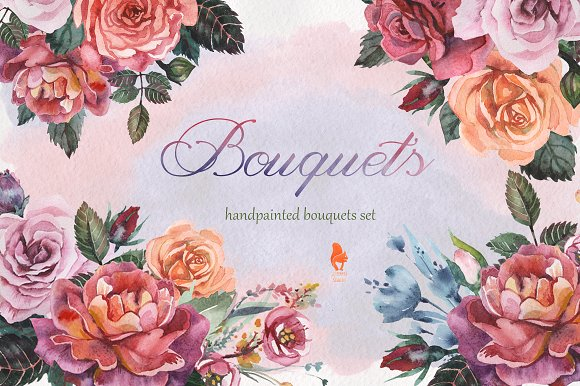 Bouquets Watercolor Collection