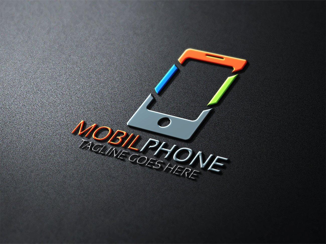 Mobile phone logo logo templates creative market for Logo mobile