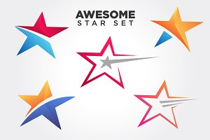 Stars Symbol illustration Set