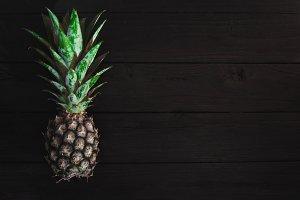 Pineapple on dark background