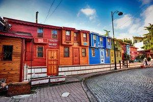 Colorful ottoman houses