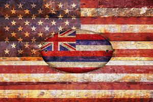 USA and Hawaii flags.