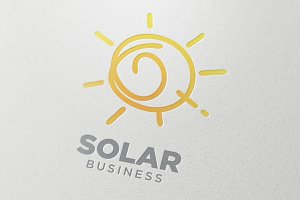 Solar technology Symbol Design