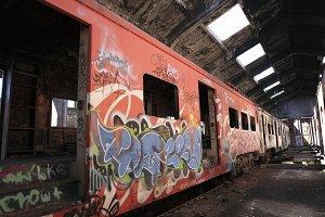 Abandoned Train. Valparaiso
