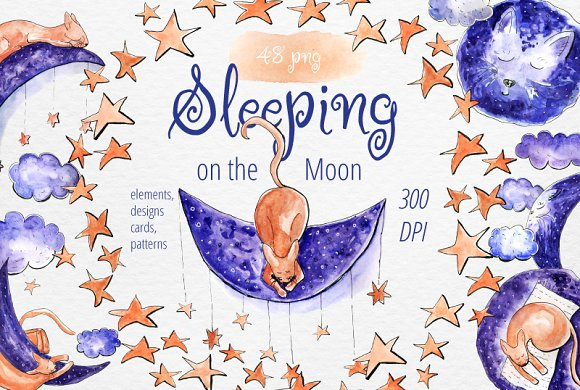 Sleeping On The Moon Watercolor Set