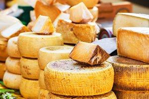 Sorts of farm made italian cheese